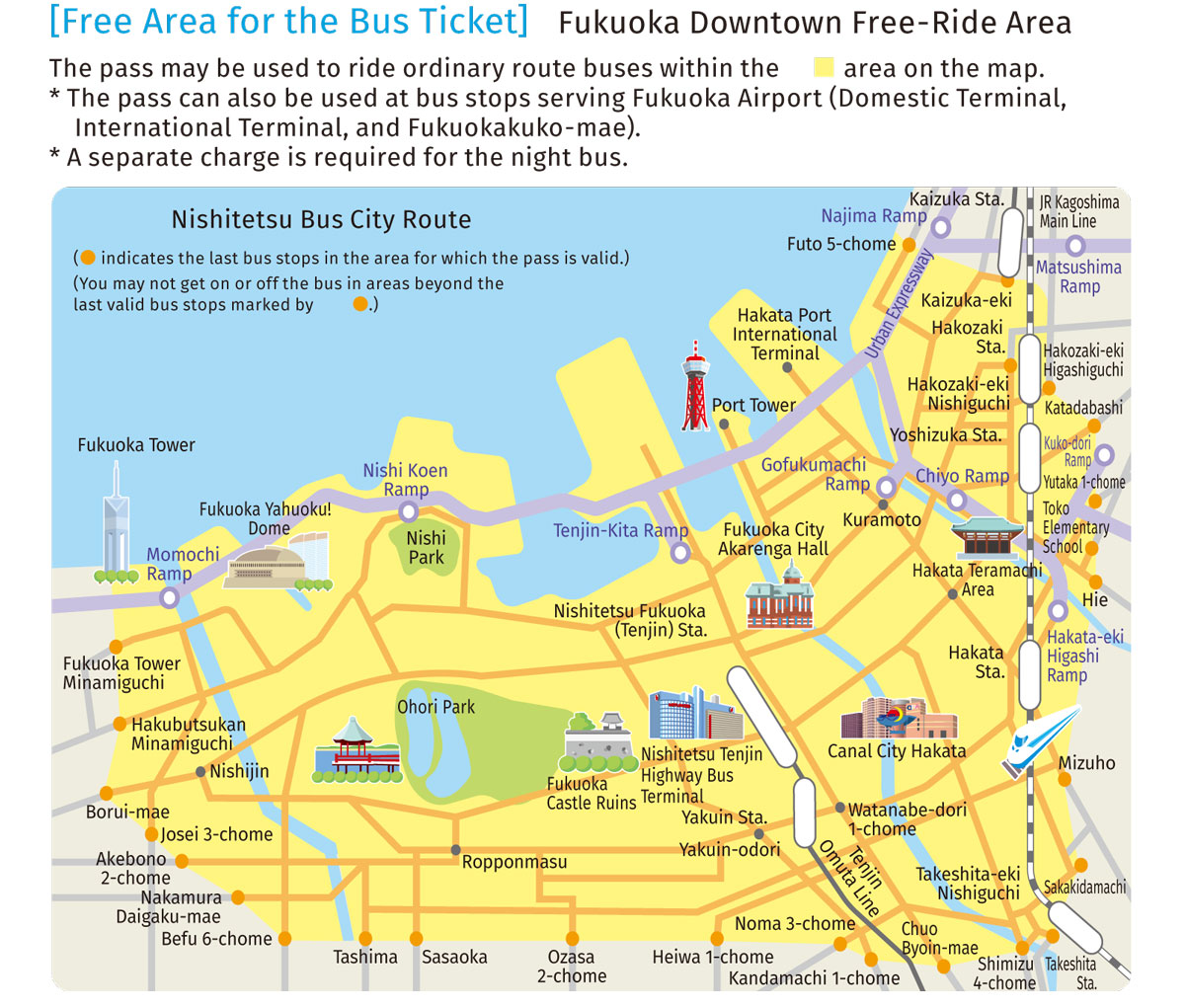 Fukuoka Open Top Bus – Scenery of the city I have not seen before